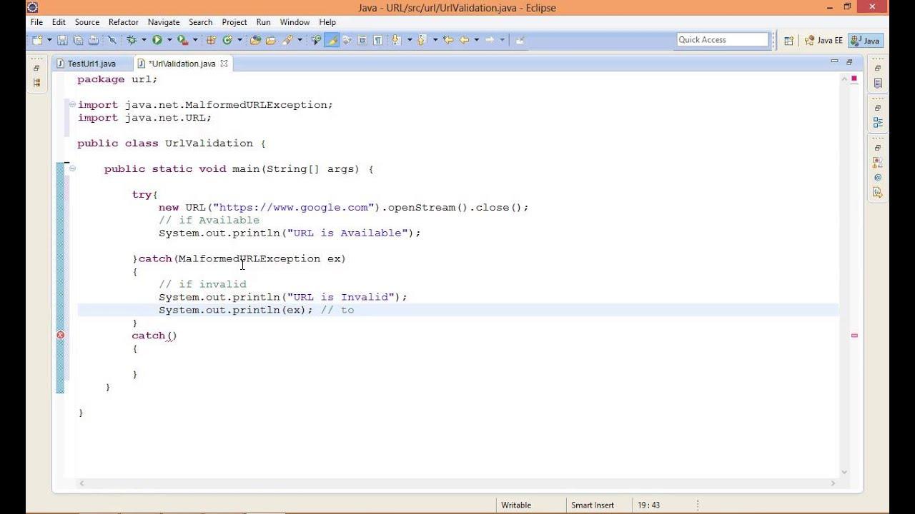 How to validate URL in Java? URL part 2
