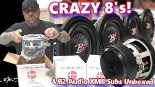 Crazy 8's! Four B2 Audio XM8 750 Watt 8