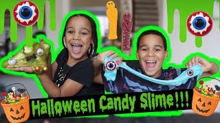 Making Halloween Candy SLIME!