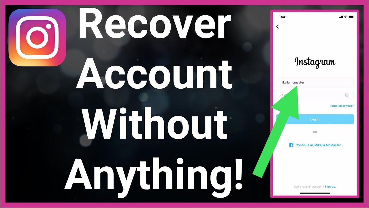 How To Recover Instagram Account WITHOUT Email, Phone, Password ...