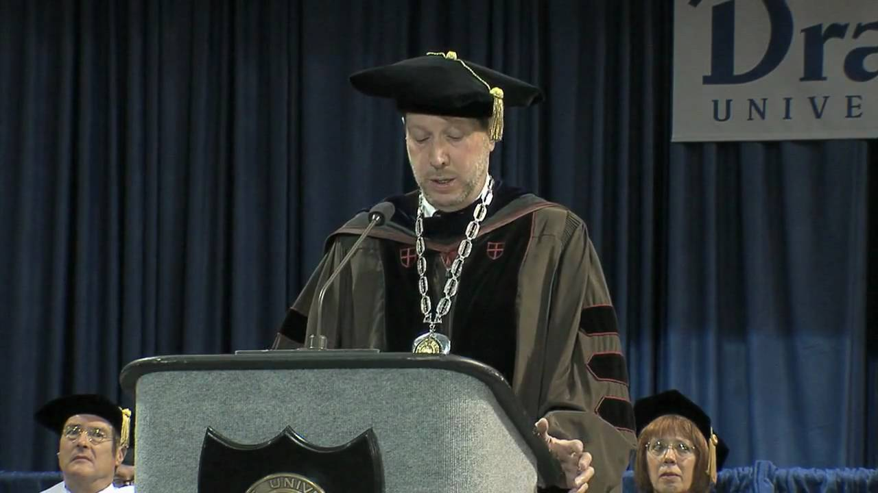 Drake University President David Maxwell, Commencement ...