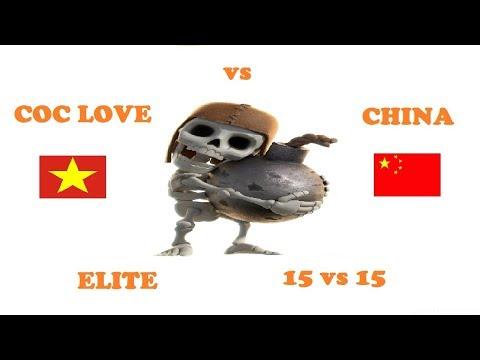 | LIVESTREAM WAR | COC LOVE (VIETNAM) vs CHINA # 95