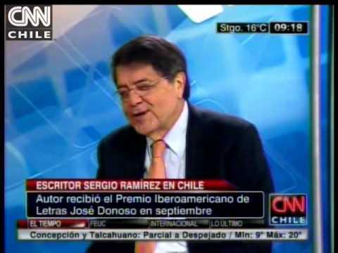 En entrevista con CNN Chile el escritor nicaragüense Sergio Ramírez   YouTube