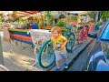 Поделки - АРТ ОБЗОР 24Серия кафе Гоголь Моголь Радужный Интерьер Арт Скамейки и Велосипеды Одесса ул.Гоголя 8