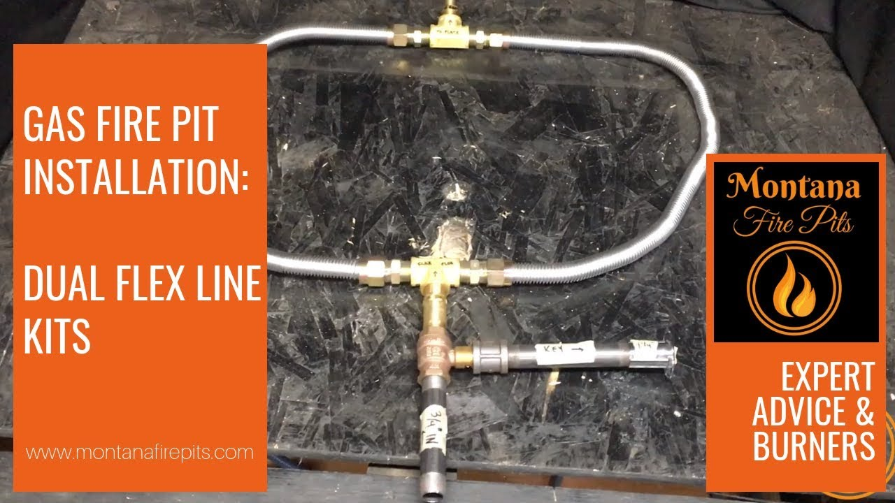 Dual Flex Line Kit For Gas Installation You