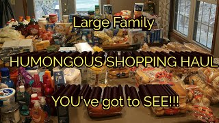 Large family WE ARE OUT OF FOOD!!!! HUMONGOUS SHOPPING HAUL.... YOU GOT TO SEE IT!!