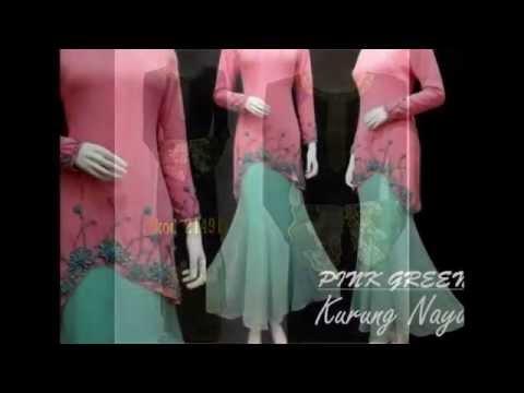 Gaun muslimah terbaru, baju kurung moden, baju gamis pesta terbaru
