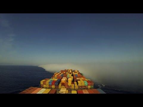 Time-lapse (72x): Gibraltar Strait transit, eastbound [4K / UHD]