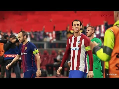 PES 2018 | FULL GAMEPLAY ATLETICO vs BARCELONA | WANDA METRO