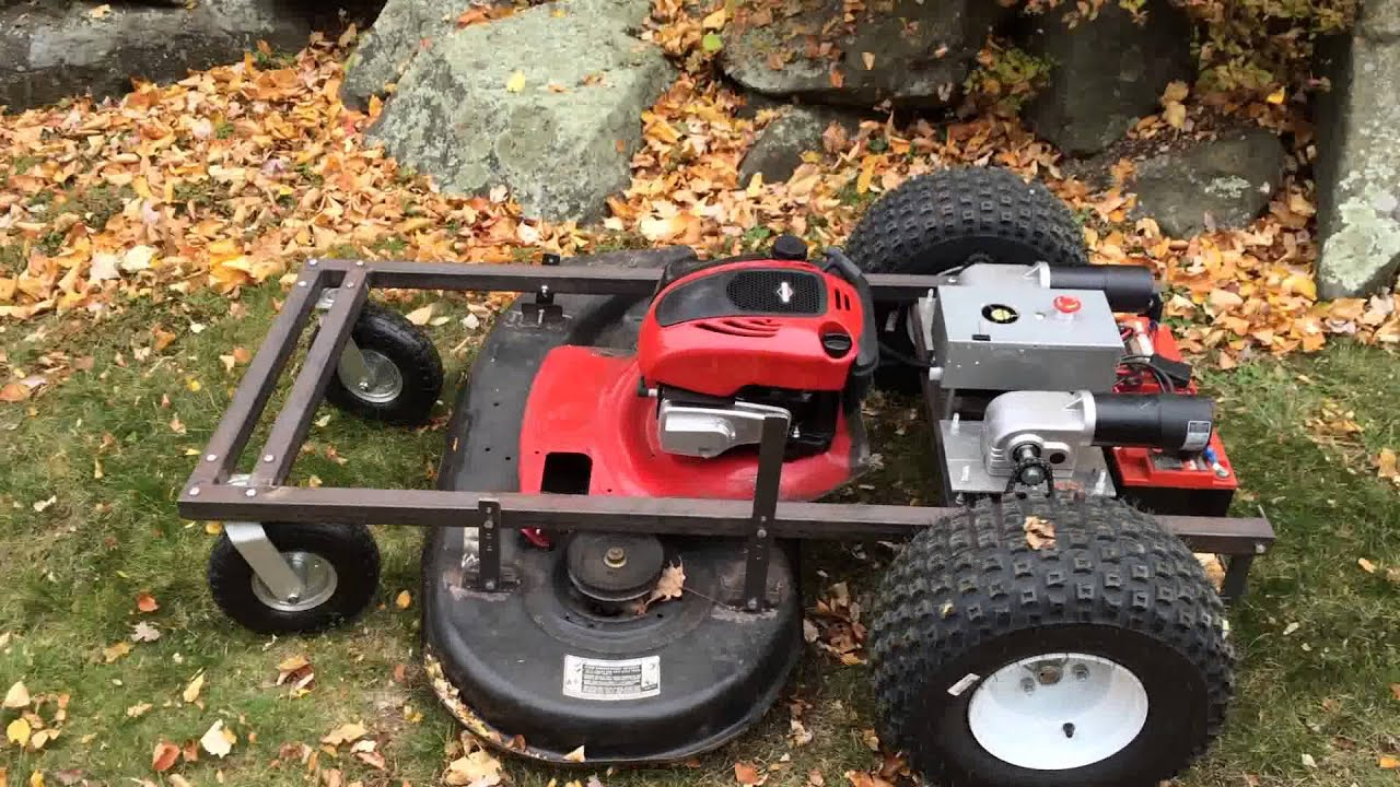Big Remote Control Lawn Mower With 42 Quot Deck Youtube
