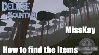 Where to find the items - Deluge Mountain ROBLOX