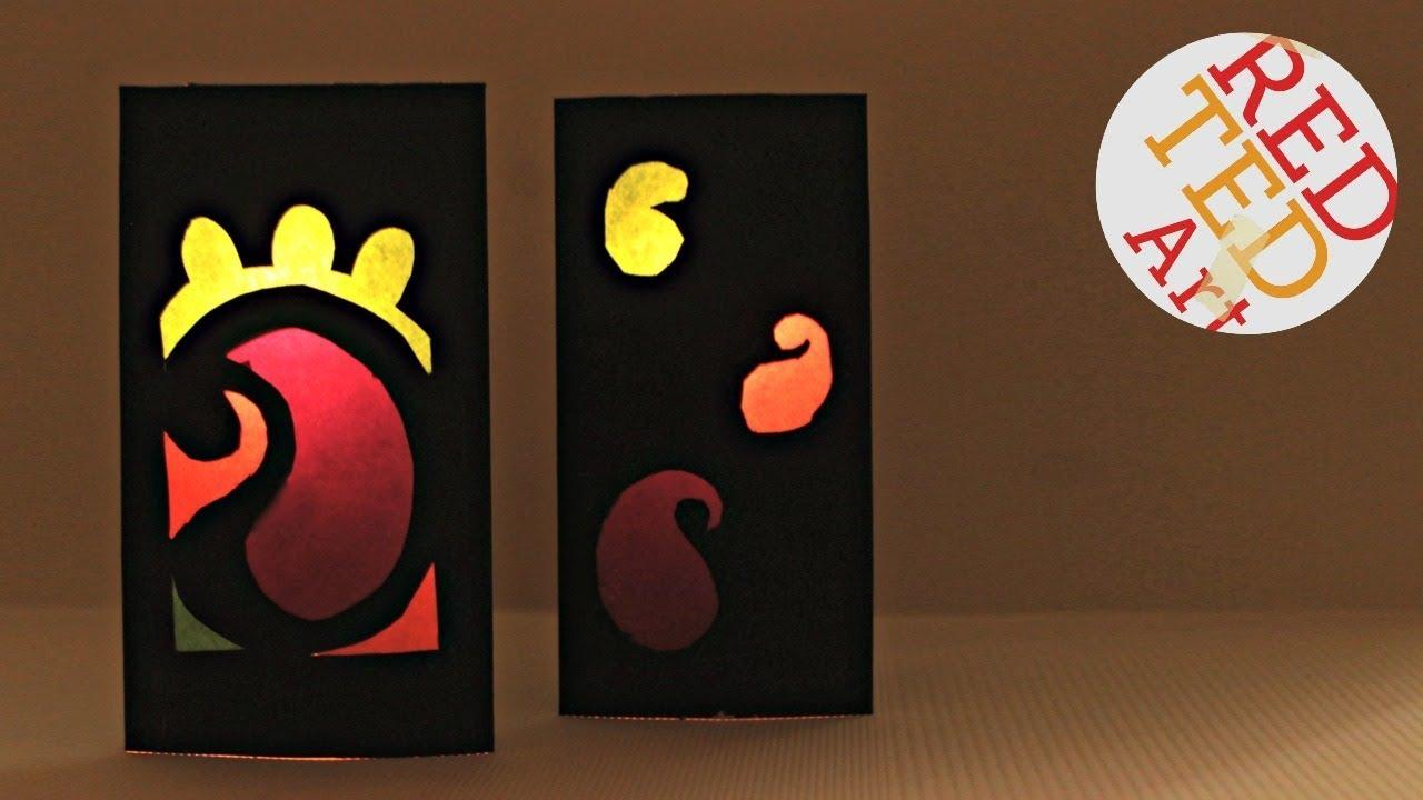 Easy Paper Lantern For Diwali Easy Kids Diwali Craft