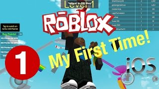 (Roblox) - My First Ever Time Playing!