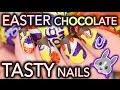 Tasty Chocolate Easter nails nom nom nom