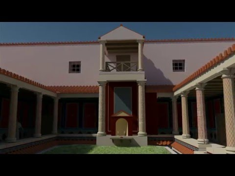 La Maison au Grand Péristyle de Vieux-la-Romaine [3D]