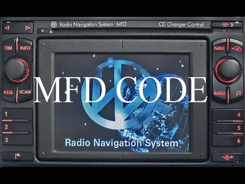 Vw Radio Navigation System Mfd Code Unlock Youtube