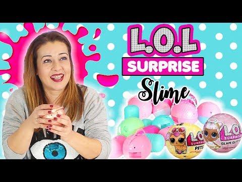 SLIME LOL SURPRISE   LoL Suprise Slime Challenge   COMO SE HACE - SLIME