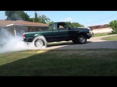 funny ford ranger burnout youtube