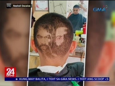 Barbero sa Cebu, gumawa ng hair art nina Pacquiao at Broner