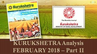 Mission UPSC - KURUKSHETRA FEBRUARY 2018 SUMMARY/ANALYSIS Part - 2