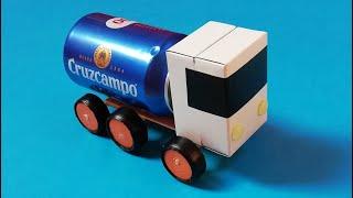 Como hacer un camion con materiales de reciclaje