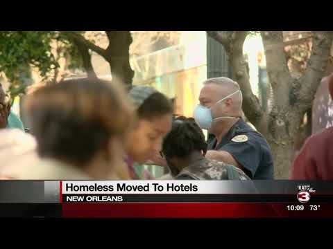 NOLA homeless moved to hotels