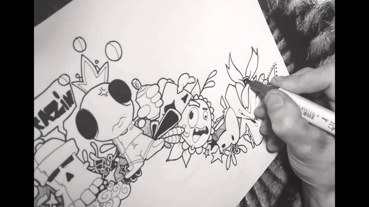 draw tutorial graffiti doodle 1 part 3 youtube