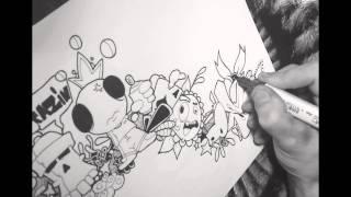 Draw Tutorial Graffiti doodle 1/Part.3