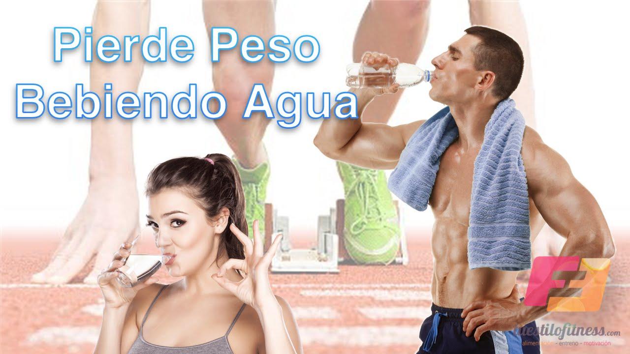 beber agua y adelgazar en