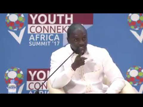 Akon Speak about Africa at Youth Connect Africa Summit'17
