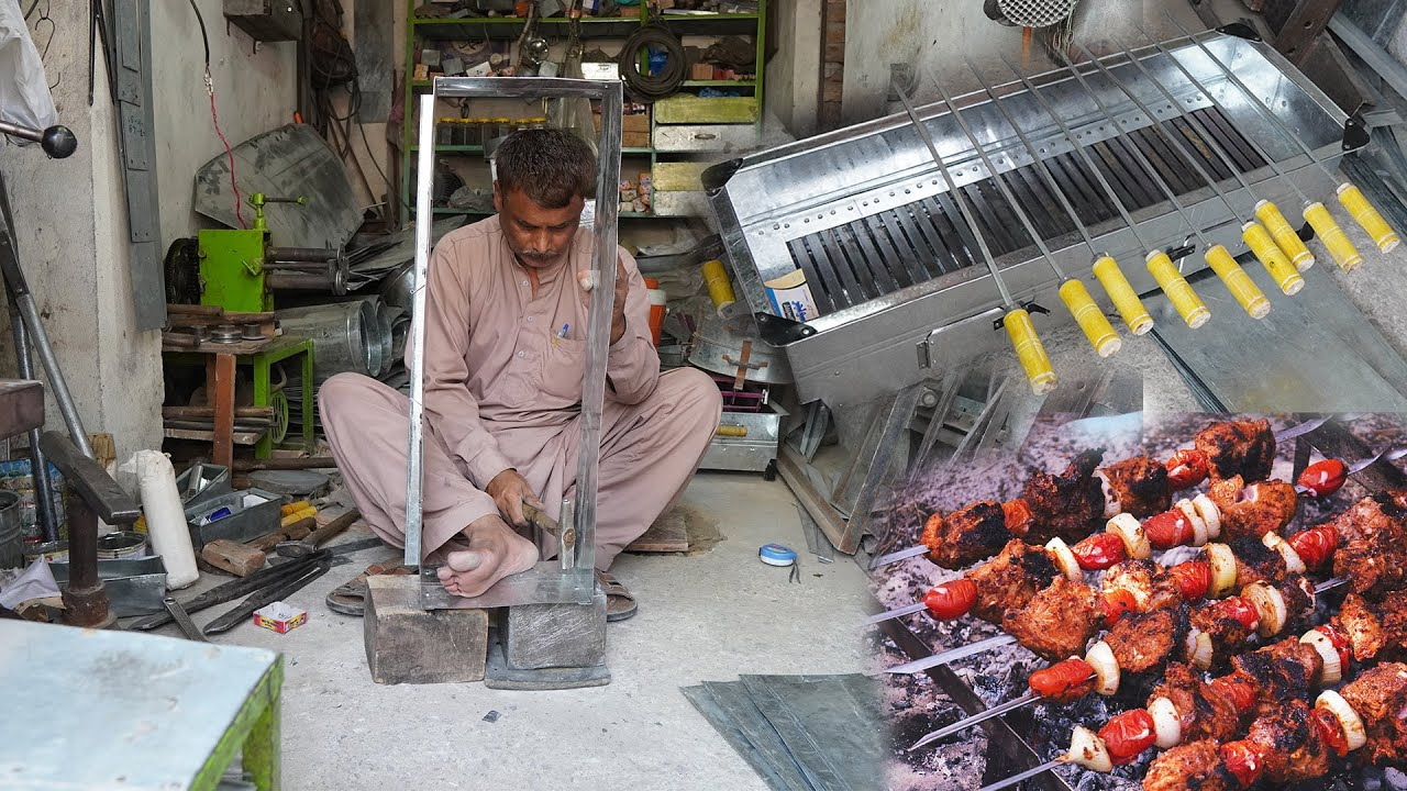 Genius Craftsman Making a Superb BarBQ Stove With Amazing Skills. | Hand Made Stove Making Process|