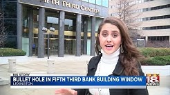 Bullet Hole In Fifth Third Bank Building Window