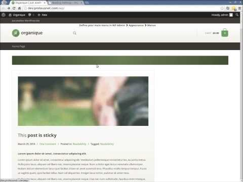 How to install Organique ProteusThemes WP theme
