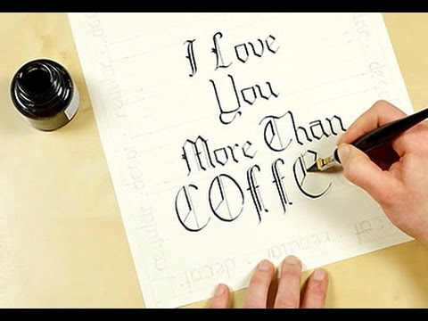 Calligraphy 101 Blackletter Script Introduction And