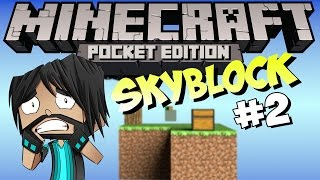 Minecraft PE (Pocket Edition) : Skyblock - Part 2 - Major Damage!