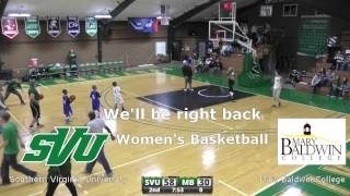Southern Virginia University Women's Basketball vs Mary Baldwin