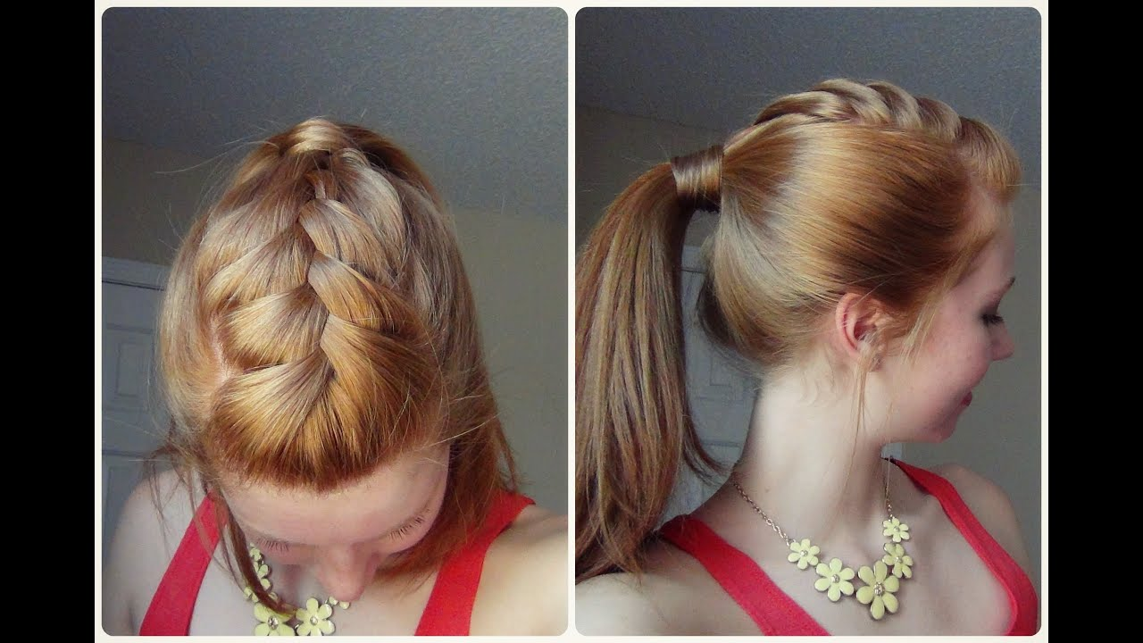 Spring Hairstyle Ponytail With French Braid! ♥ YouTube
