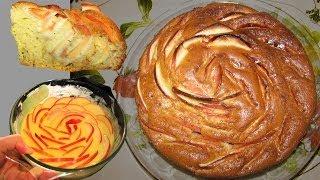 """Яблочная ШАРЛОТКА """"Цветок"""". Как  украсить праздничную выпечку."""