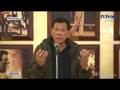 PRRD answers questions from the Malacañang Press Corps in Malacañang