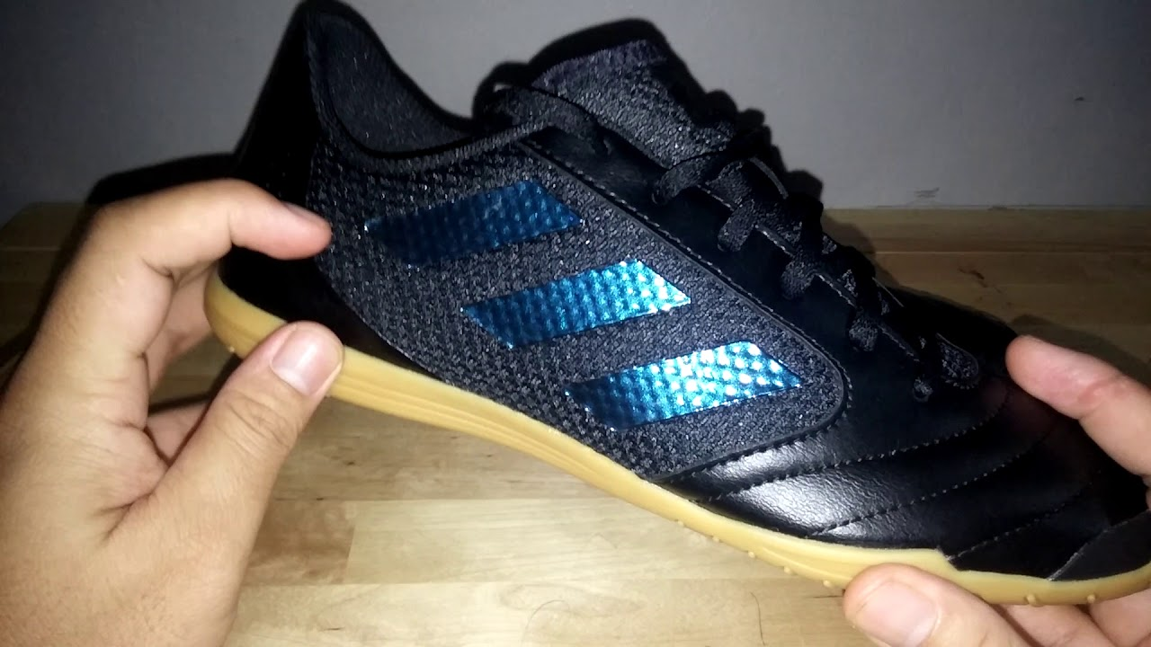 new concept 767d6 4446a Review Sepatu Futsal Adidas ACE 17.4 Sala Total Black