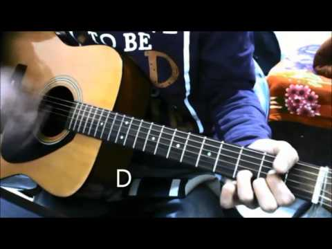 ILLaHi -+ 1 more song - 2 Chords only - BASIC BEGINNERS GUITAR COVER LESSON BOLLYWOOD