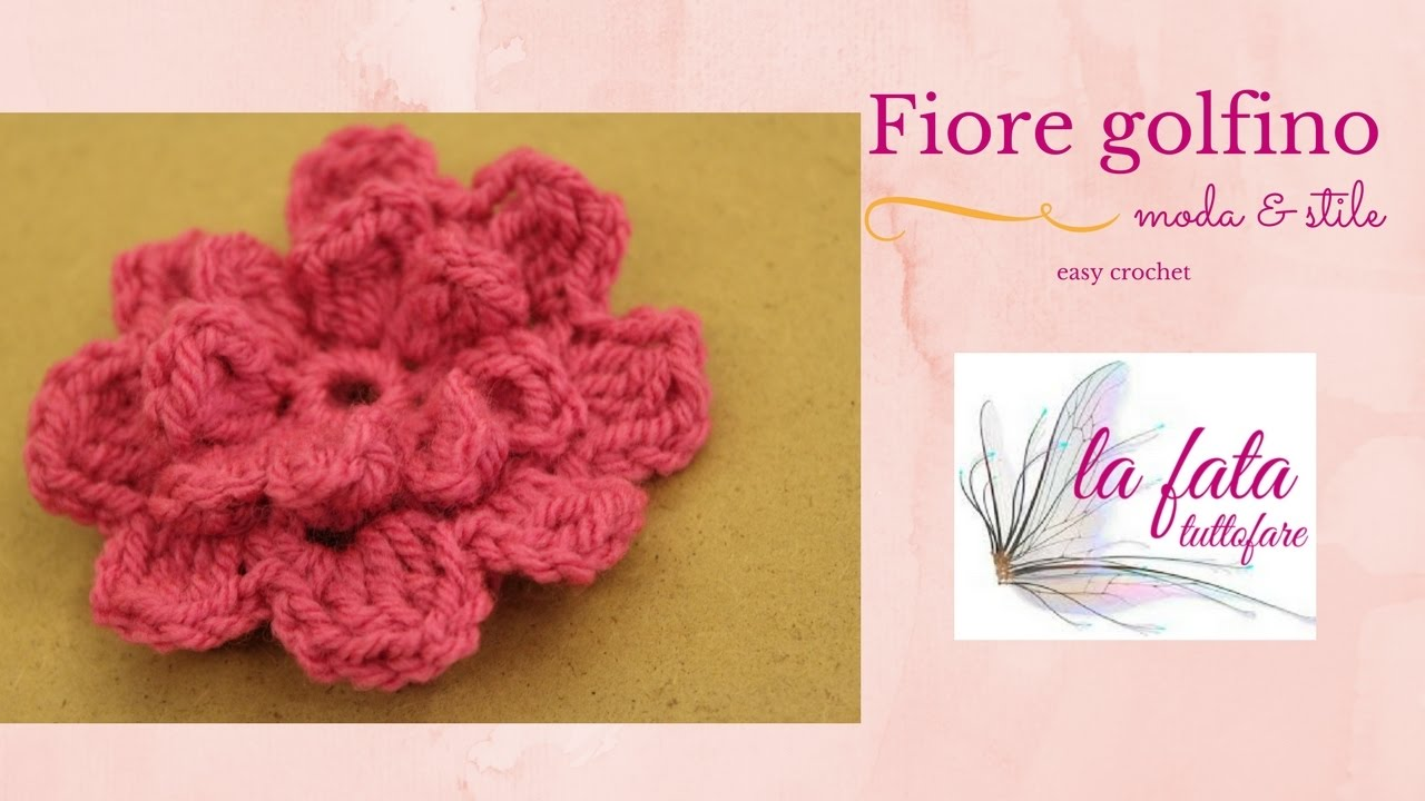 Tutorial Fiore Uncinetto Flower Crochet Youtube