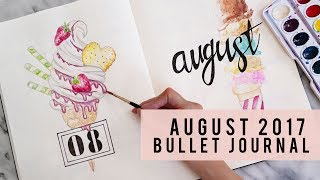 PLAN WITH ME | AUGUST 2017 BULLET JOURNAL | ANN LE