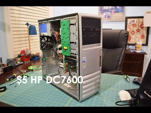 Garage Sale Finds: $5 HP Compaq DC7600 CMT Desktop Computer Overview, Teardown, and Test
