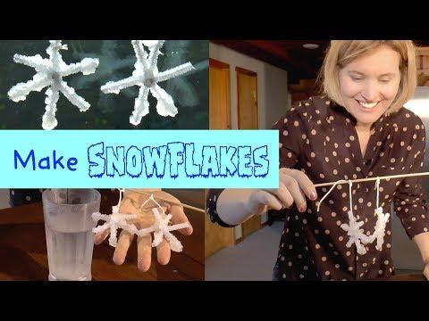 Borax Crystal Snowflakes   Fun DIY Winter Craft for Kids
