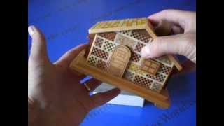 Secret House #2 Japanese Puzzle Box ( This One Is Fun To Solve! )