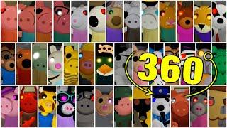 ROBLOX PIGGY ALL JUMPSCARES 360