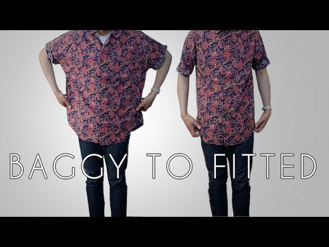 Transformation Baggy To Fitted Shirt YouTube Best How To Tailor A Shirt Without A Sewing Machine