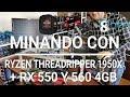 Minando Dual ETH + XMR con Ryzen Threadripper 1950x + RX560 RX550 4GB