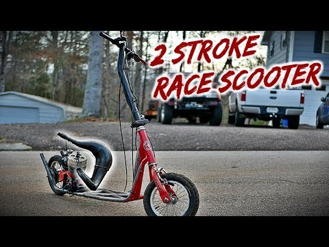 Free 2 Stroke Race Scooter Build Part 2